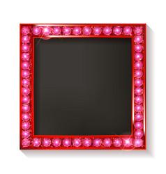 Red vintage frame vector