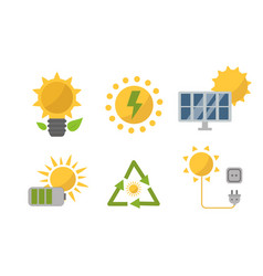 renewable solar energy power electricity vector image