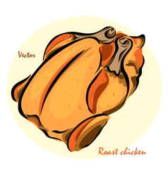 Roast chicken vector