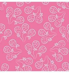 Seamless pattern with balloons Cute doodle style vector image