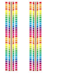 seamless rainbow tire tracks vector image