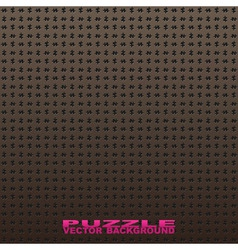 seamless vector puzzle background black vector image