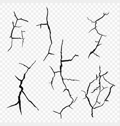 Set of cracks in the surface vector
