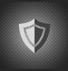 Shield icon security protection icon placed on vector