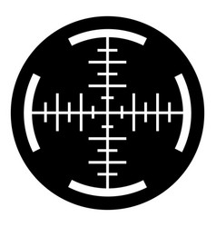 Sniper crosshair icon simple style vector