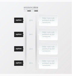 timeline template template black and white color vector image