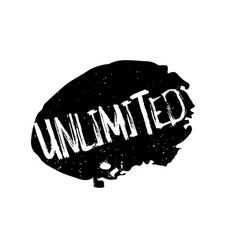 Unlimited rubber stamp vector