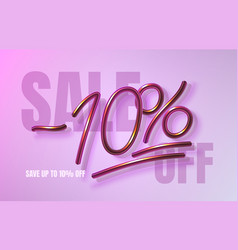 Up to 10 off sale banner promotion flyer vector