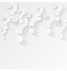 White question mark background in minimal style vector