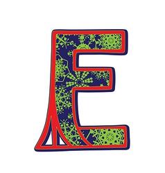 Winter letter E vector