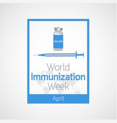 world immunization week icon vector image