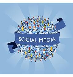 World social media network vector