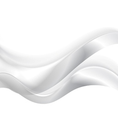 Abstract smooth blurred grey waves background vector image vector image