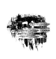 Black brush strokes design element vector image