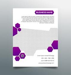 Business flyer template - creative purple design vector image vector image