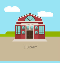 colored urban municipal library building vector image