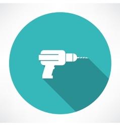 Drill icon vector image vector image