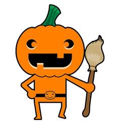 Pumpkin Character vector image vector image