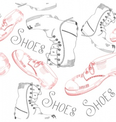 shoes pattern vector image