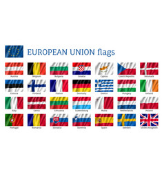 waving flags of european union vector image
