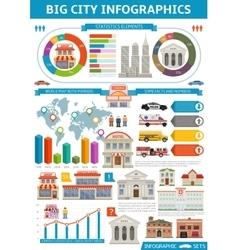 Bid City Infographics vector image vector image