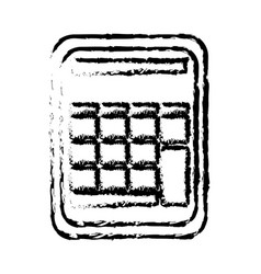 calculator math school accounting buttons sketch vector image