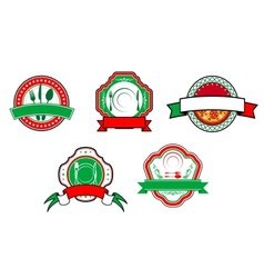 Italian food banners and labels vector image
