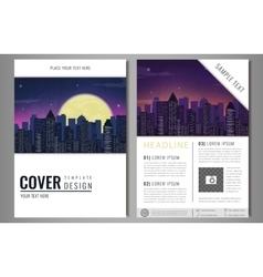 Leaflet Brochure Flyer template design with urban vector image