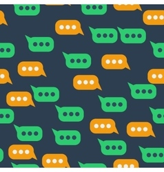 Seamless pattern with message bubble vector image vector image