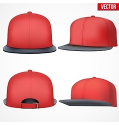 Set Layout of Male red rap cap vector image vector image