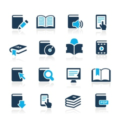 Book Icons Azure Series vector image