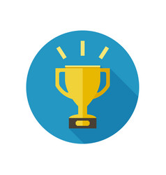 golden cup icon vector image