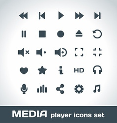 Media Player Icons Set vector image