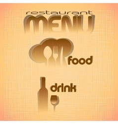 restaurant menu with the figures of layers vector image