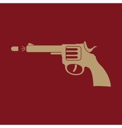 The gun icon Pistol and handgun weapon revolver vector image