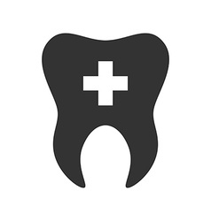 Tooth with cross icon Logo template of tooth vector image vector image