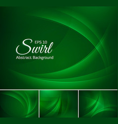 curvy abstract background dark green vector image vector image