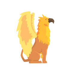 legendary griffin monster mythical and fantastic vector image vector image