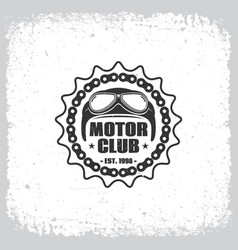 motor club vector image vector image