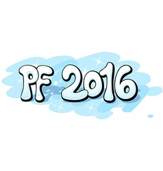 PF 2016 shining and snowy design vector image
