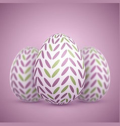 photorealistic easter egg set vector image vector image