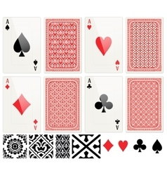 Poker cards set vector