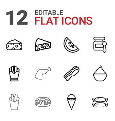 12 tasty icons vector