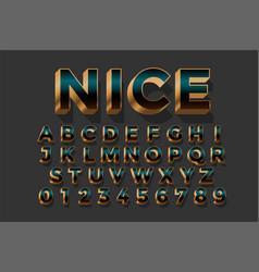 3d golden royal luxury text effect design set vector