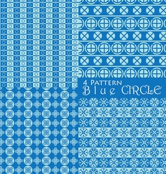 4 pattern blue circle vector