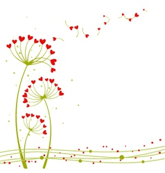 abstract springtime love vector image