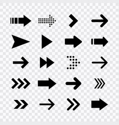 arrows big black set icons arrow icon arrow vector image