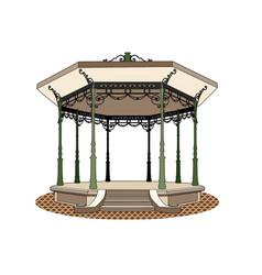 Bandstand romantic vector