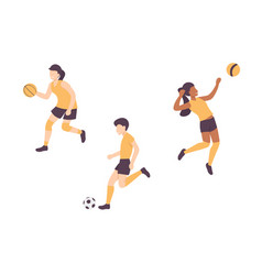 Basketball football volleyball set vector