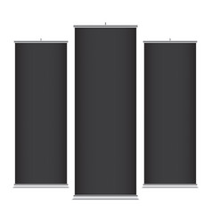 black vertical banner templates vector image